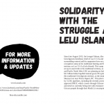 Solidarity  with the struggle at Lelu island