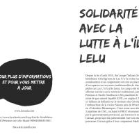Solidarité avec la lutte à l'île Lelu