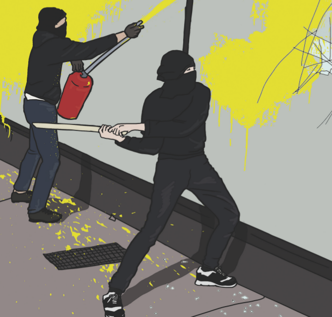 Attaquer plus que des vitrines : attaques à Hochelaga
