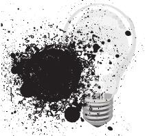 Les bombes de peinture : des ampoules remplies de peinture