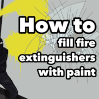 How to: fill fire extinguishers with paint