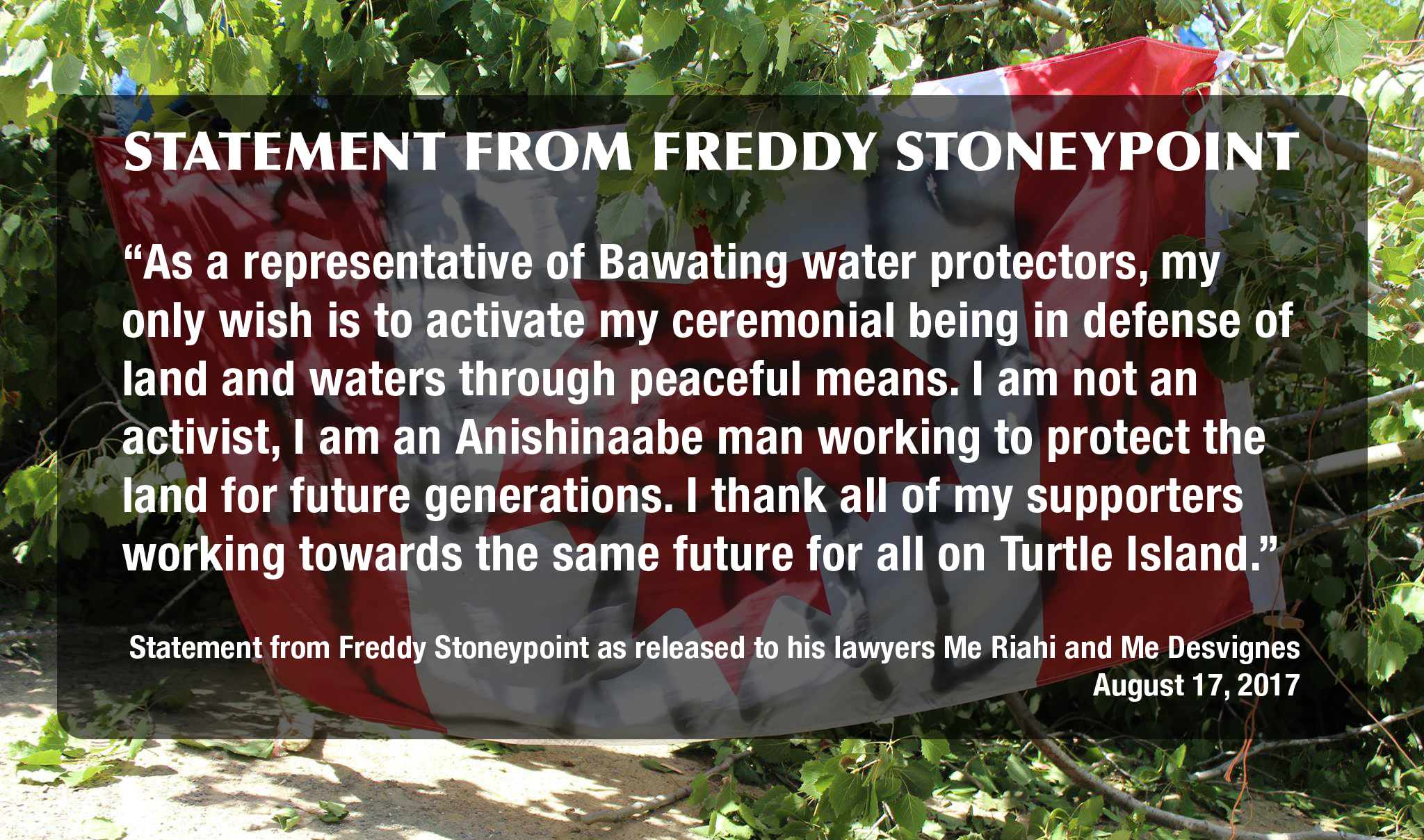 Statement from Freddy Stoneypoint