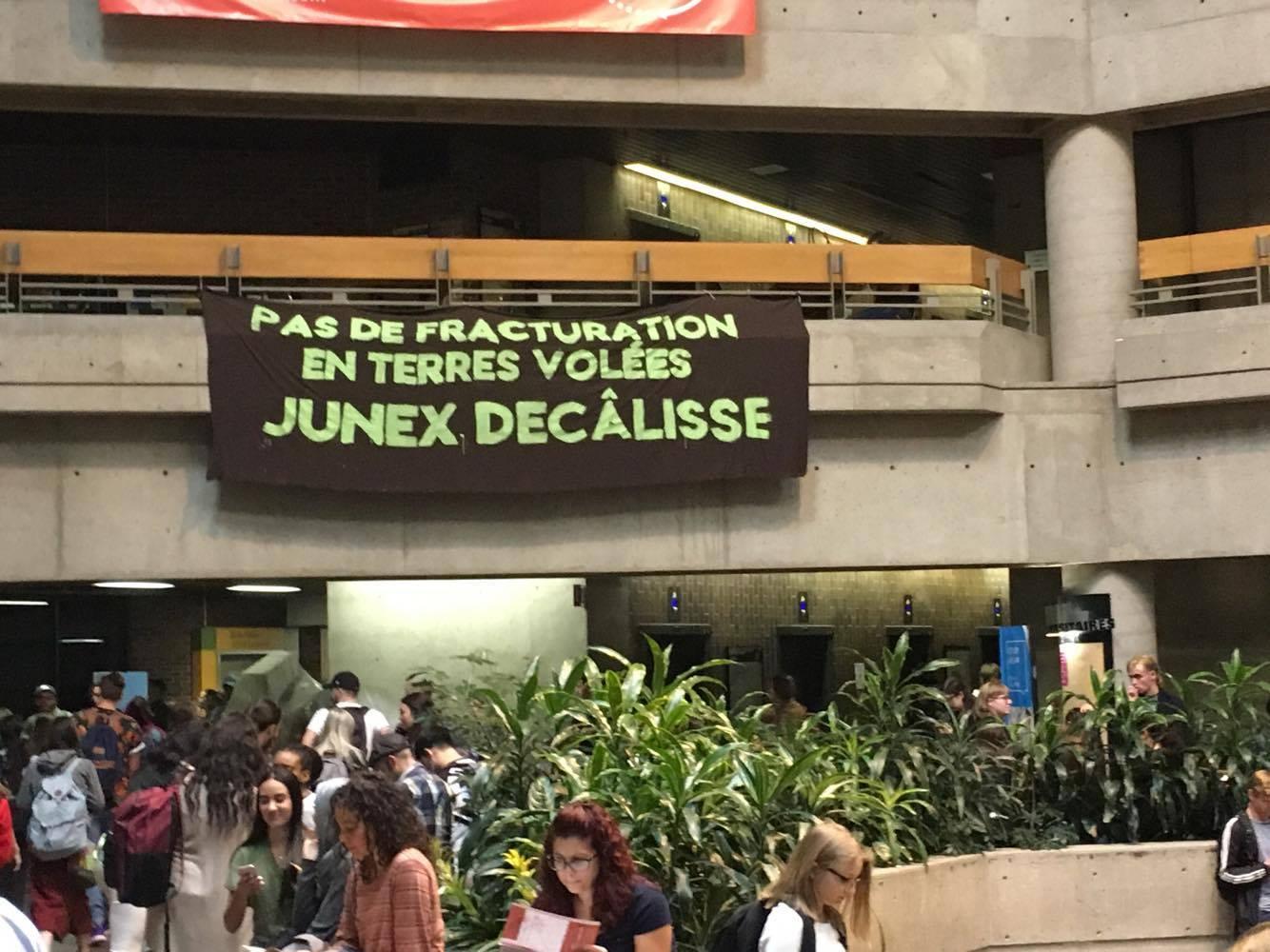 Banner drop: fuck off Junex