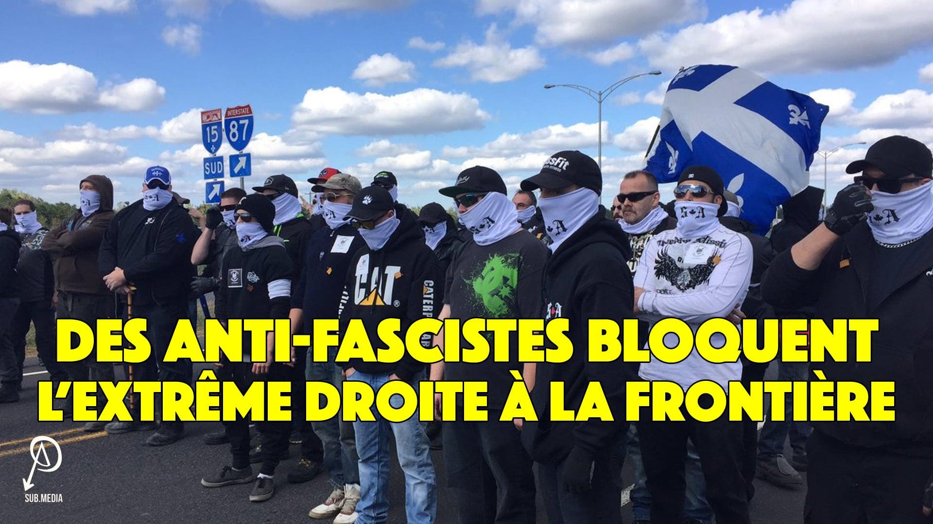 Des Anti-fascistes Bloquent L'Extrême Droite À La Frontière