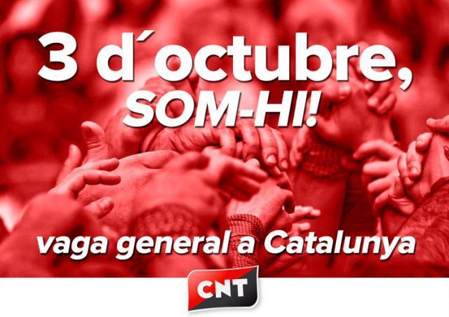 Soutien à la grève générale : non à la répression politique en Catalogne
