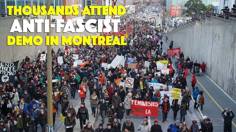 Thousands Attend Anti-fascist Demo in Montreal