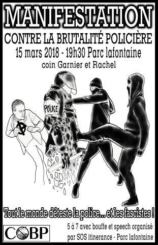Manifestation contre la brutalité policière 2018