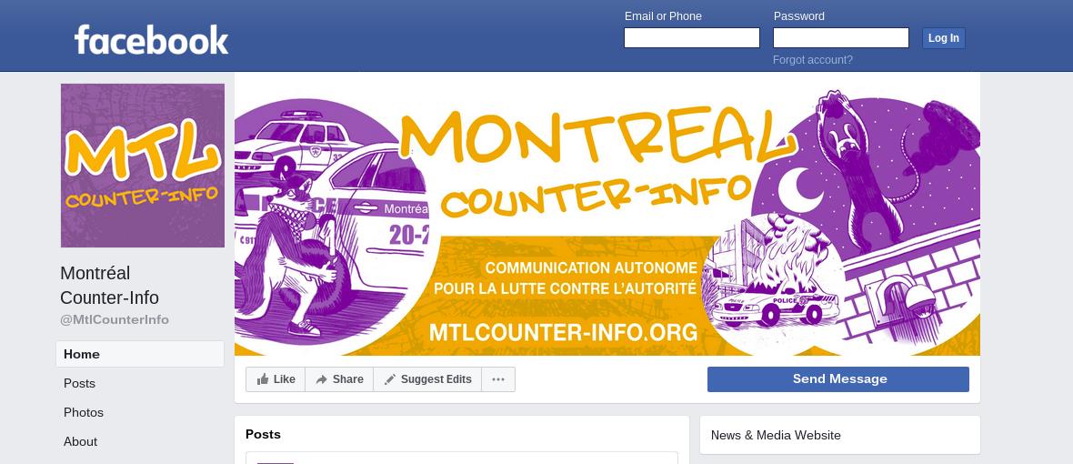 Communiqué après le dernier article de La Presse sur Montréal Contre-Information