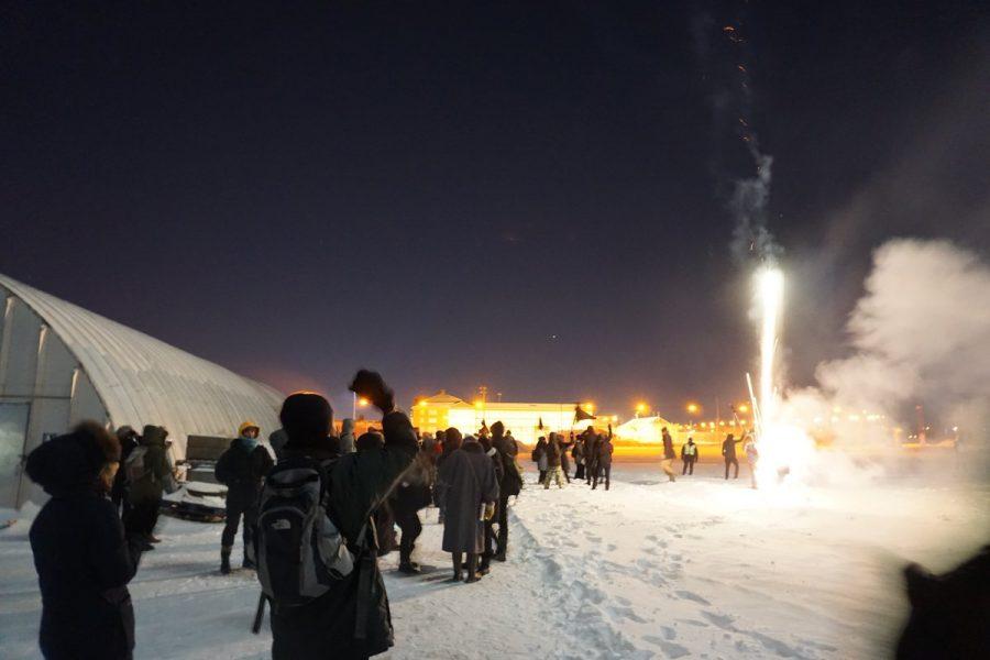 Manif de solidarité devant les prisons de Laval pour la nouvelle année!
